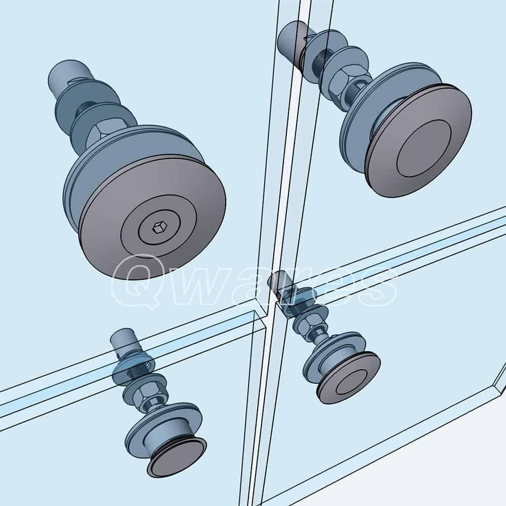 QWARES® POINT FIXING BOLTS FOR ARCHITECTURAL GLASS
